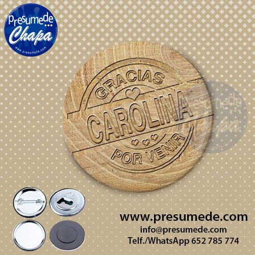 Marcasitios sello de madera para boda